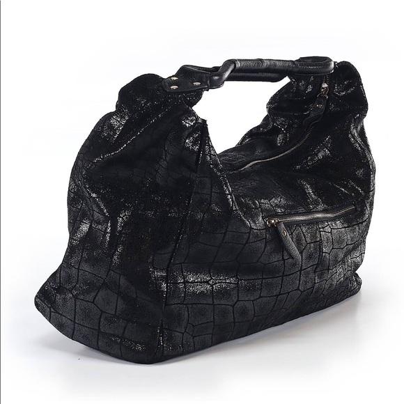 Lola Bernard Handbags - Lola Bernard Shimmer Hobo Black Bag